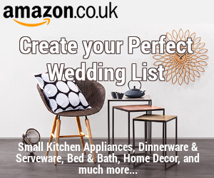Amazon - Create your perfect wedding list - advert