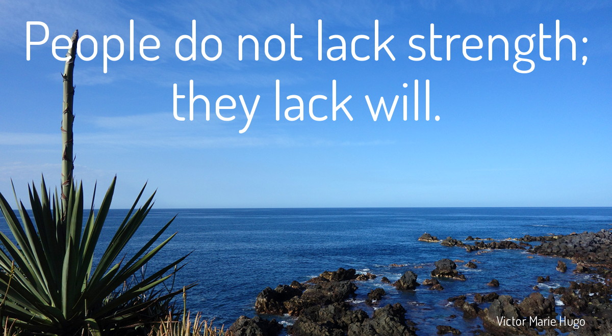 People do not lack strength; they lack will - Victor Hugo